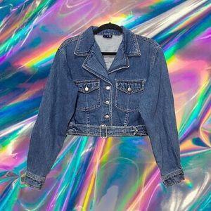 🍒 VTG Denim Moto Jacket 🍒